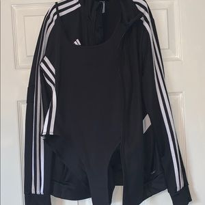 Addidas Zip up jacket and Addidas Body Suit